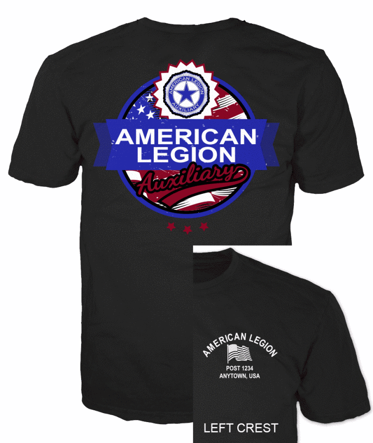 American legion Auxiliary American Flag T-Shirt