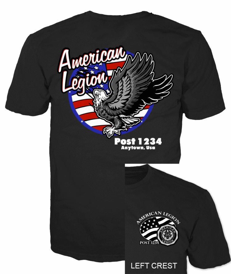 American legion American Flag and Full Eagle T-Shirt