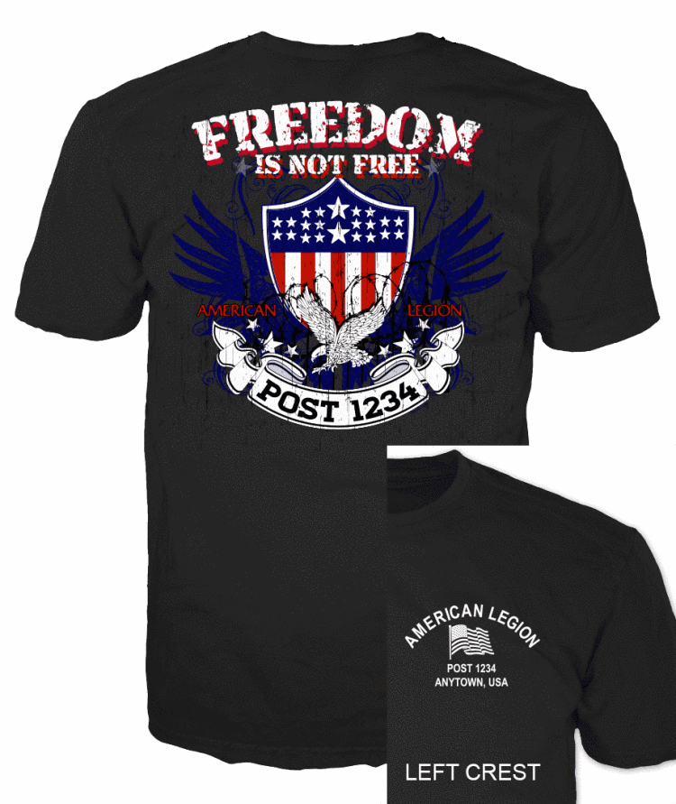 American legion Freedom is not Free American Flag and Eagle T-Shirt