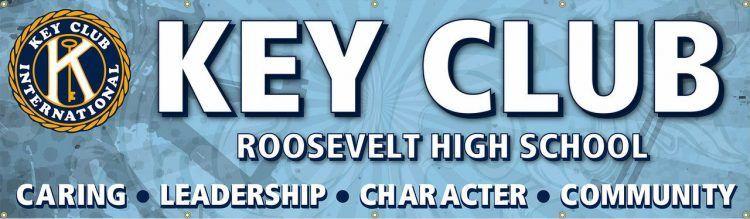 Key Club Vinyl Banner with Blue design
