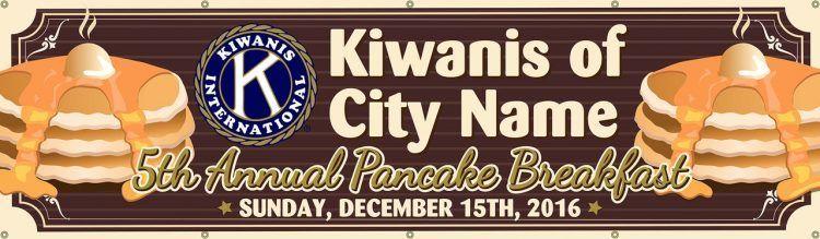 Kiwanis Vinyl Banner with Pancake Design