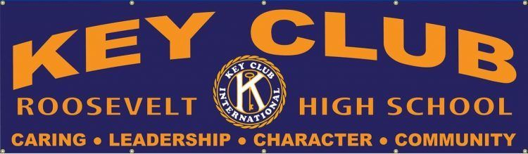 Key Club Vinyl Banner with Solid Purple design