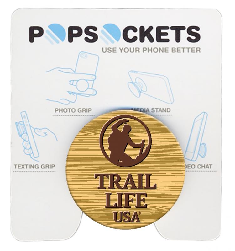 Trail Life Wooden Logo Popsocket