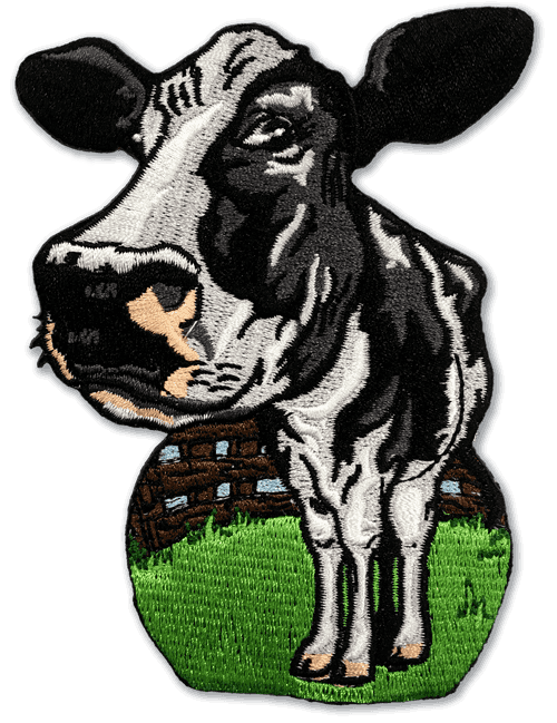 Cow Embroidered Patch
