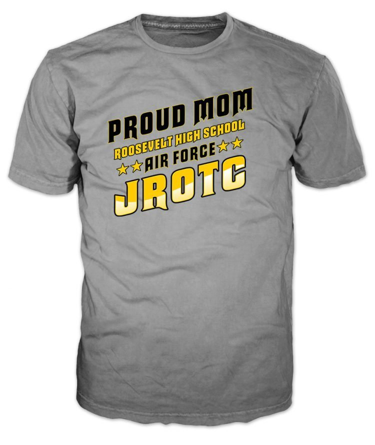 Air Force JROTC Proud Mom Grey T-Shirt