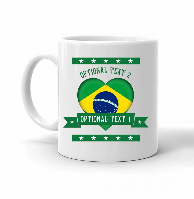 Brazil Heart Flag Mug Front