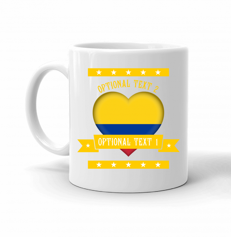 Colombia Heart Flag Mug Front