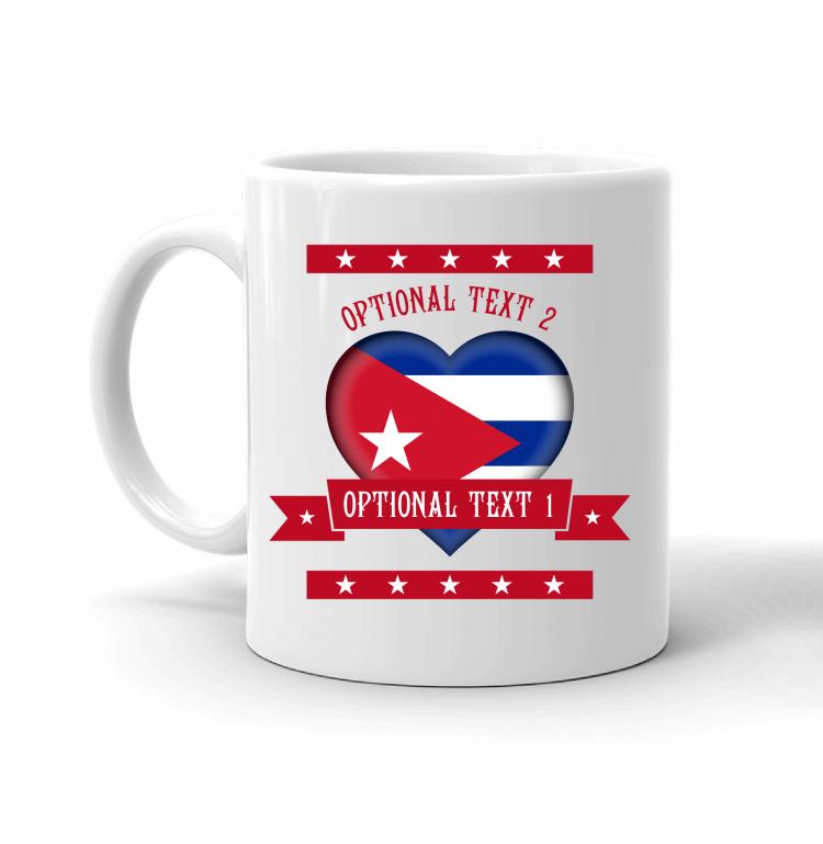 Cuba Heart Flag Mug Front