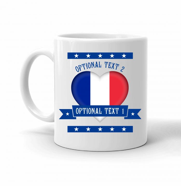 France Heart Flag Mug Front