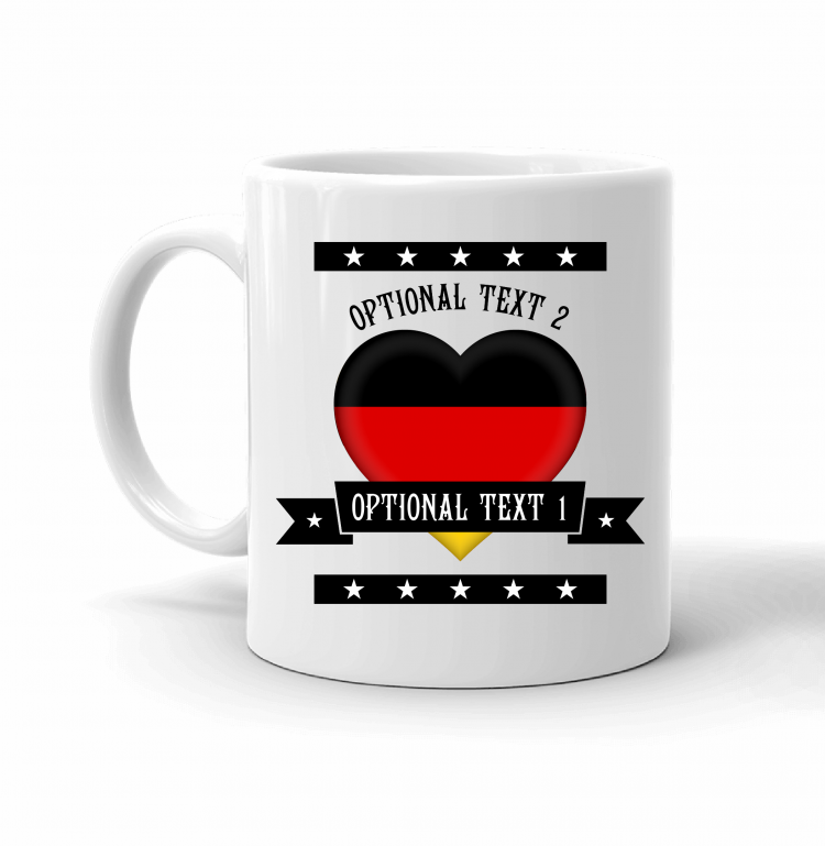 Germany Heart Flag Mug Front