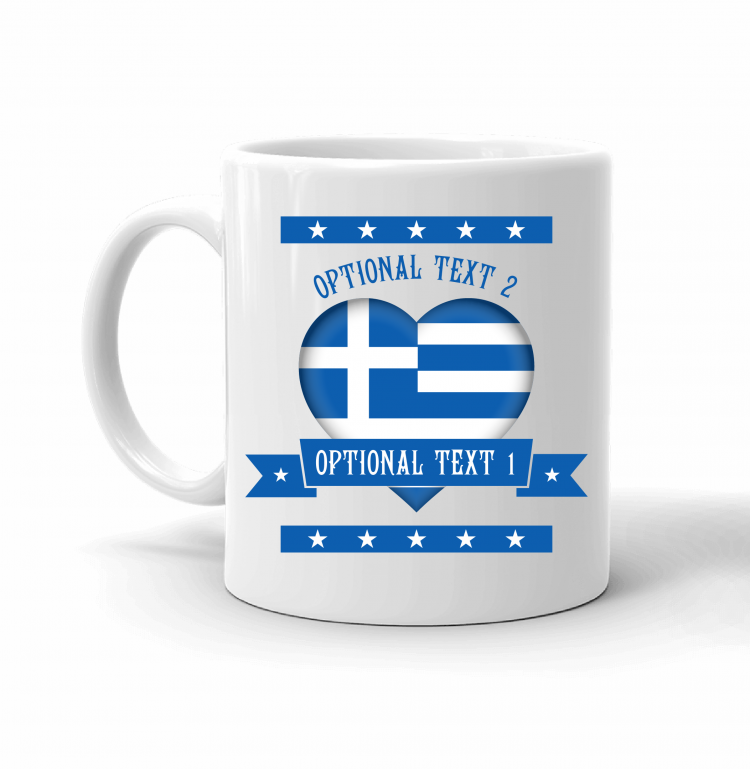 Greece Heart Flag Mug Front
