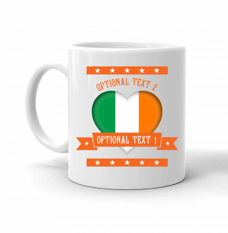 Ireland Heart Flag Mug Front