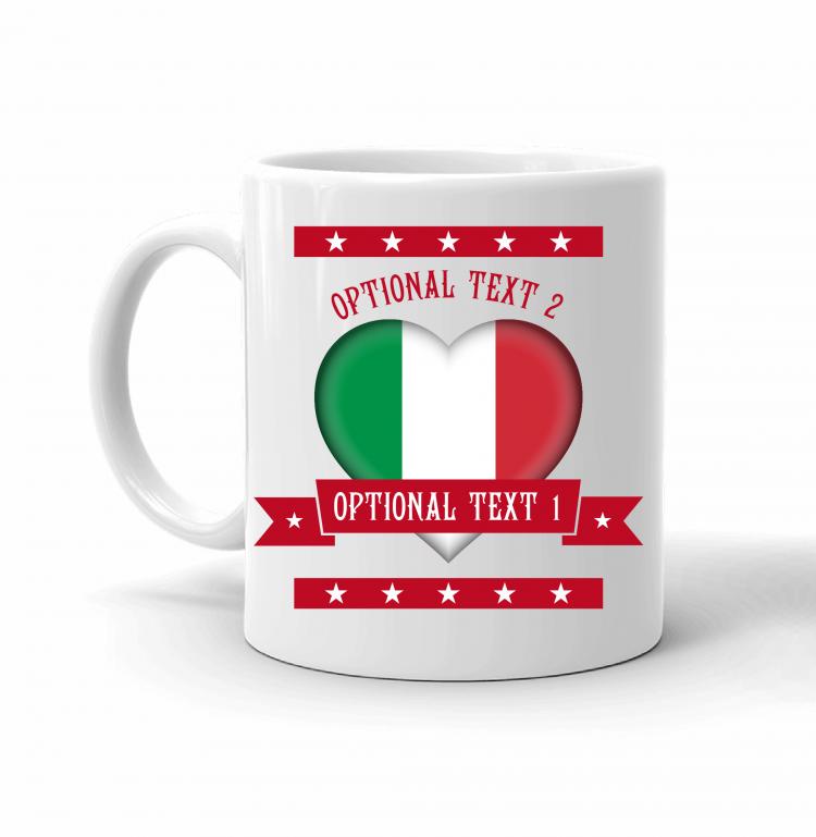 Italy Heart Flag Mug Front