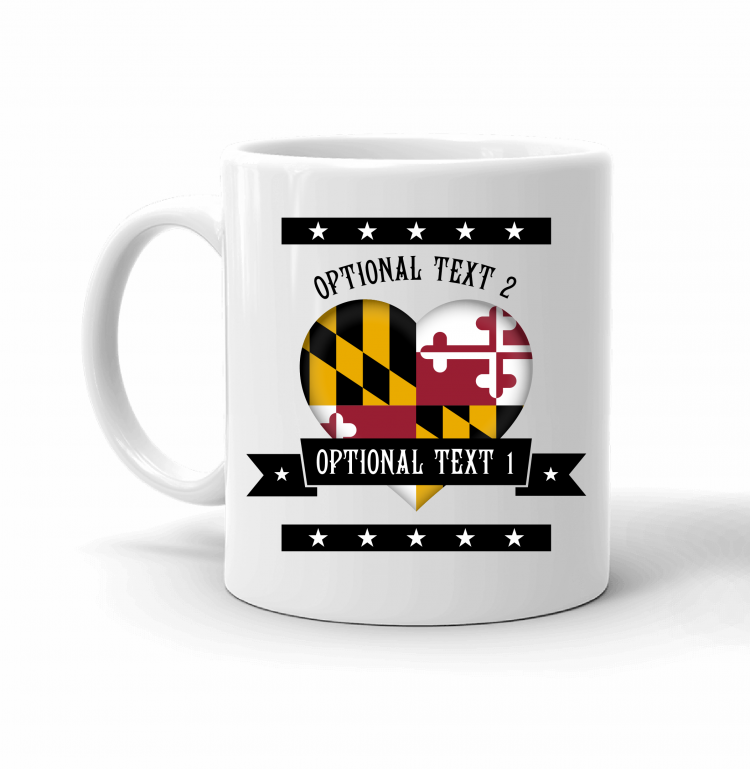 Maryland Heart Flag Mug Front