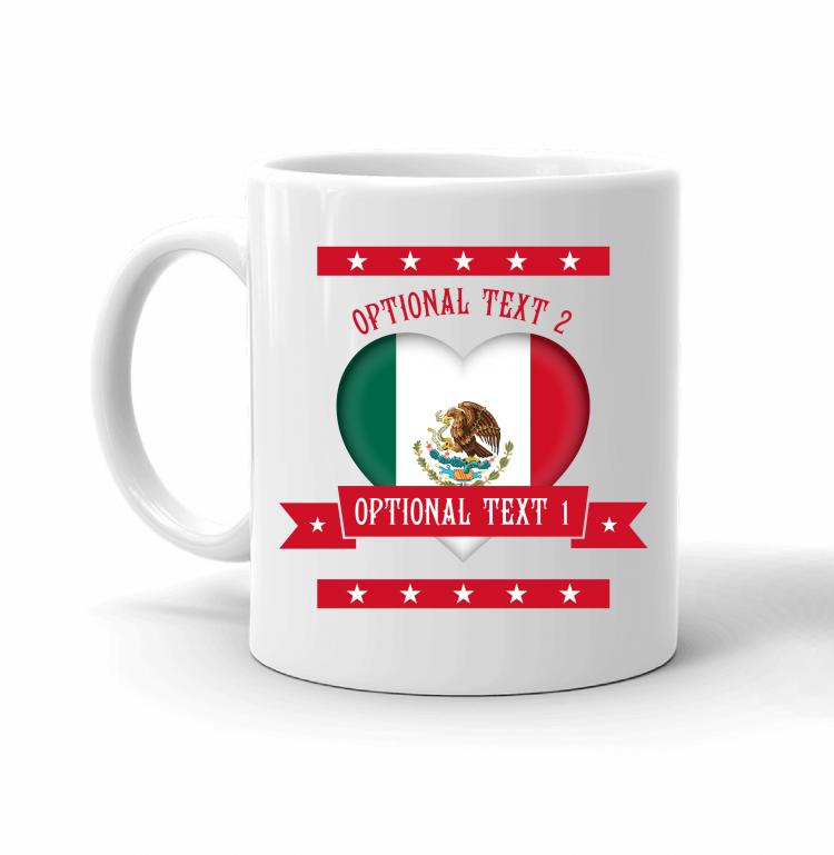 Mexico Heart Flag Mug Front