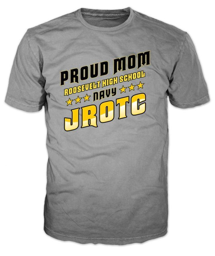 Navy JROTC Proud Mom Grey T-Shirt