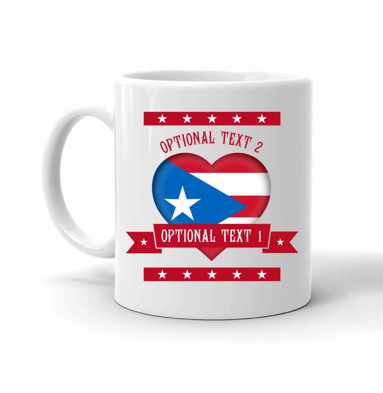Puerto Rico Heart Flag Mug Front