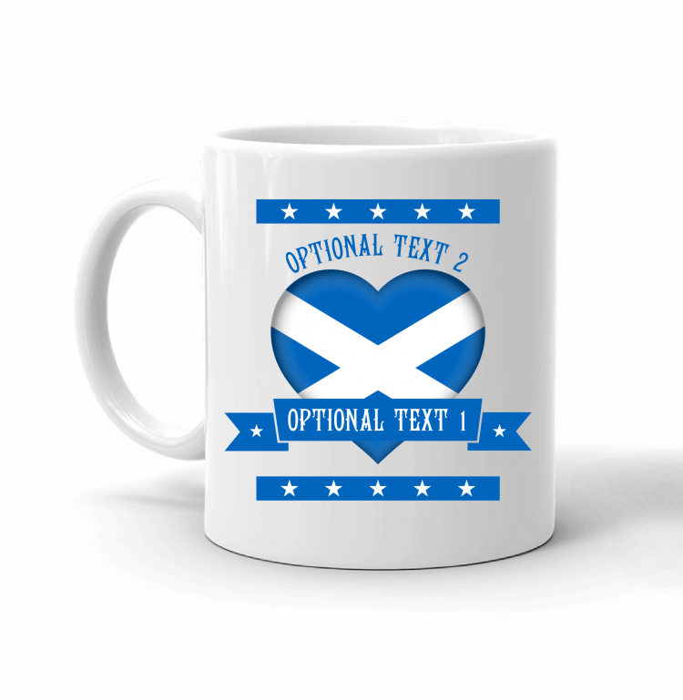 Scotland Heart Flag Mug Front