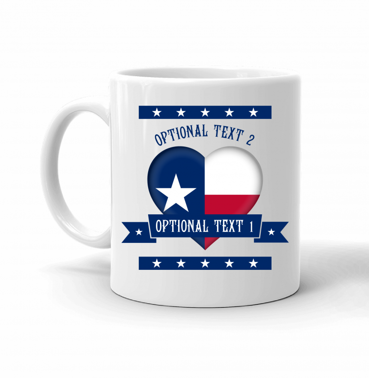 Texas Heart Flag Mug Front