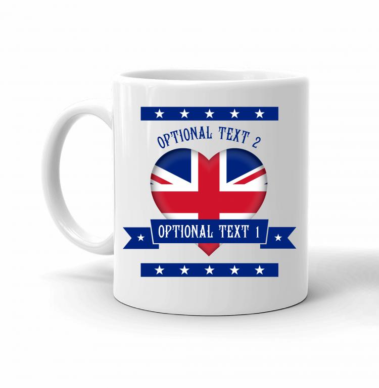 United Kingdom Heart Flag Mug Front