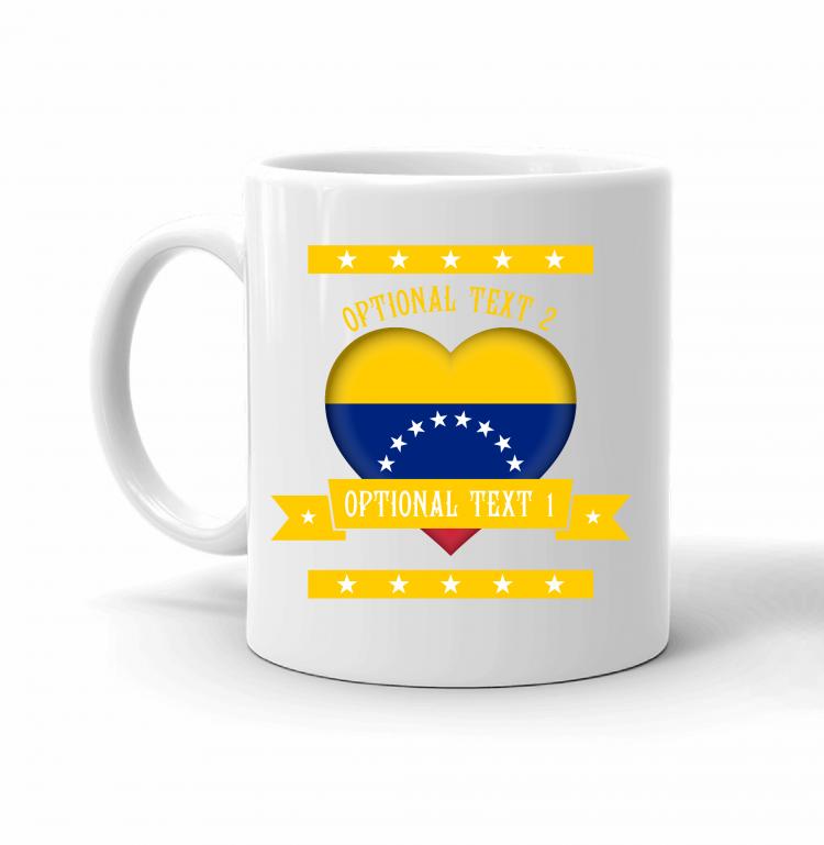 Venezuela Heart Flag Mug Front