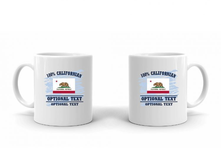 100% Californian Flag Mug