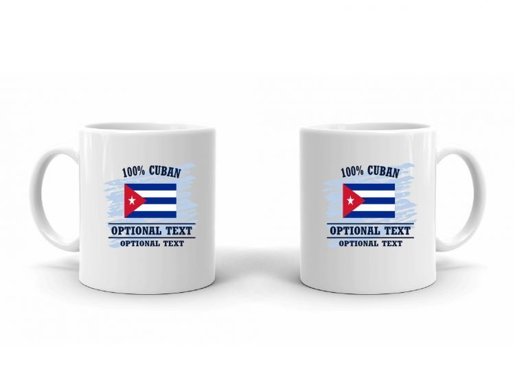 100% Cuban Flag Mug