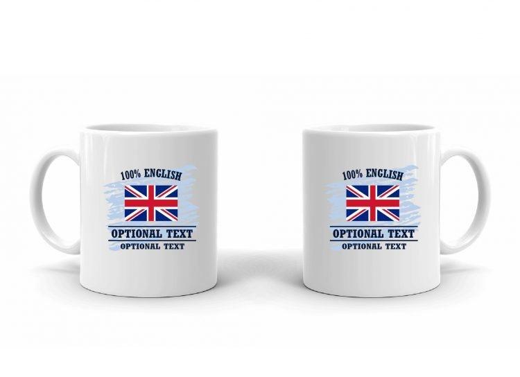100% English Flag Mug