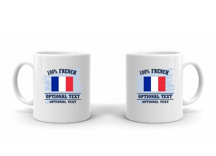 100% French Flag Mug