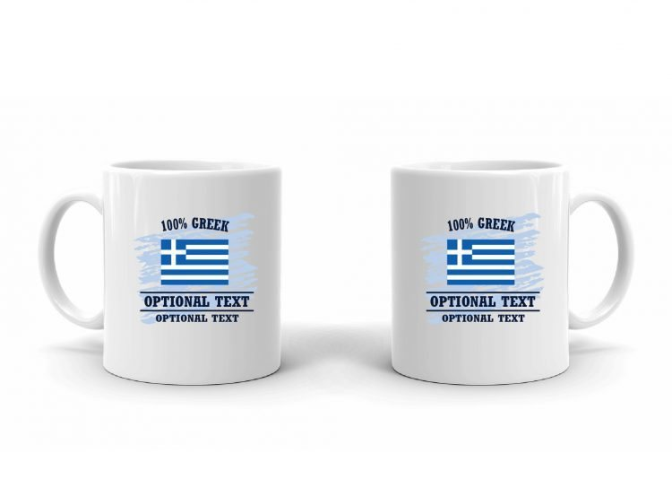 100% Greek Flag Mug
