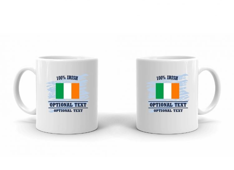 100% Irish Flag Mug