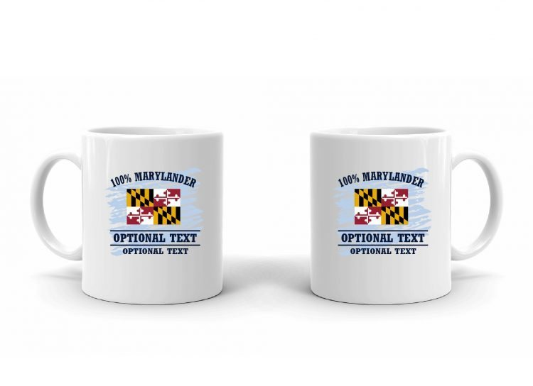 100% Marylander Flag Mug
