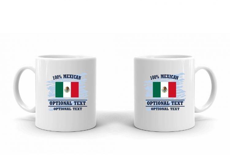 100% Mexican Flag Mug