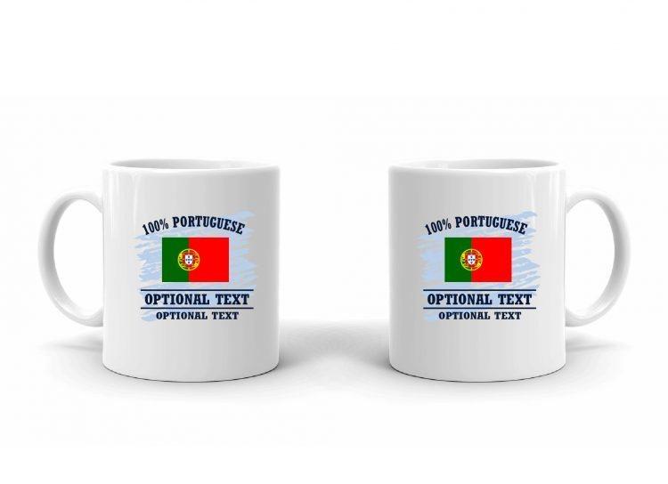 100% Portuguese Flag Mug