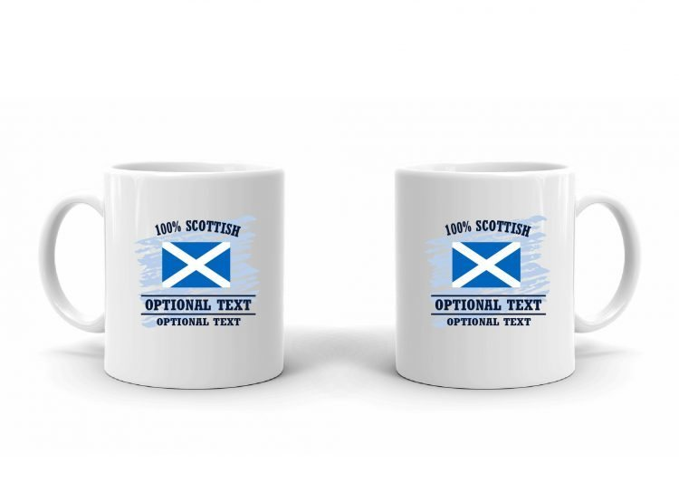 100% Scottish Flag Mug
