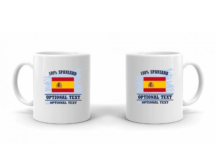 100% Spanish Flag Mug