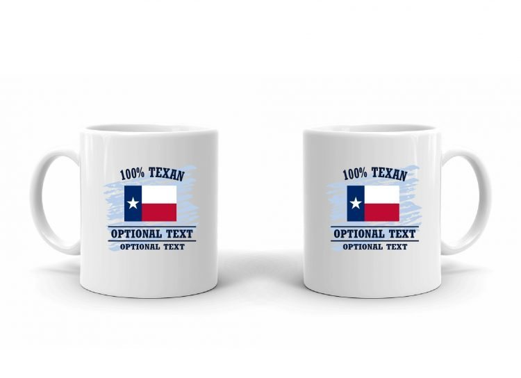 100% Texan Flag Mug