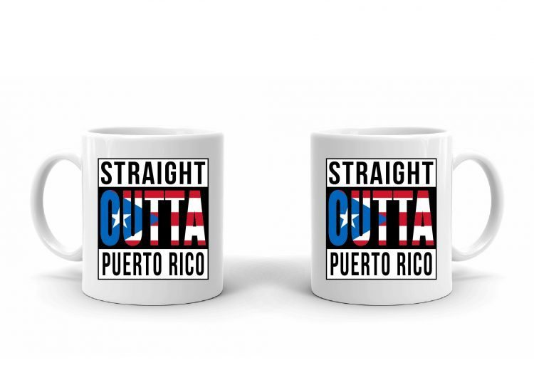 Straight Outta Puerto Rico Flag Mug