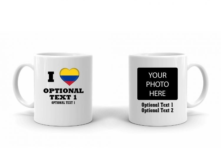 I Love Colombia Flag Mug
