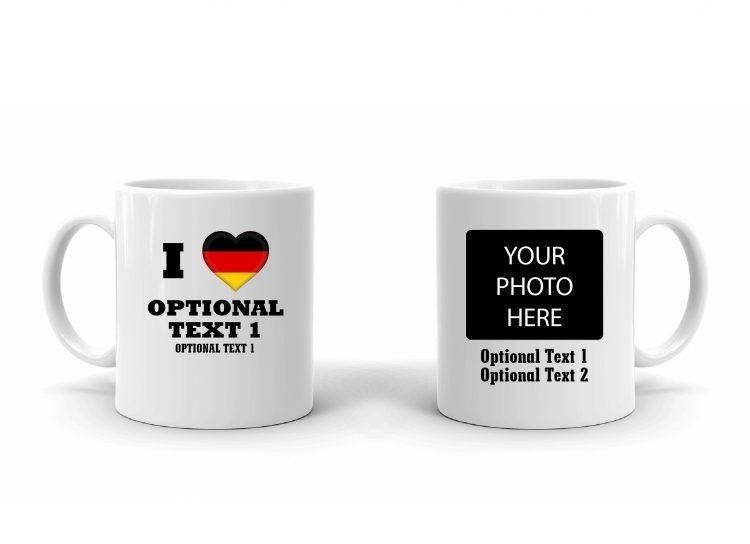I Love Germany Flag Mug