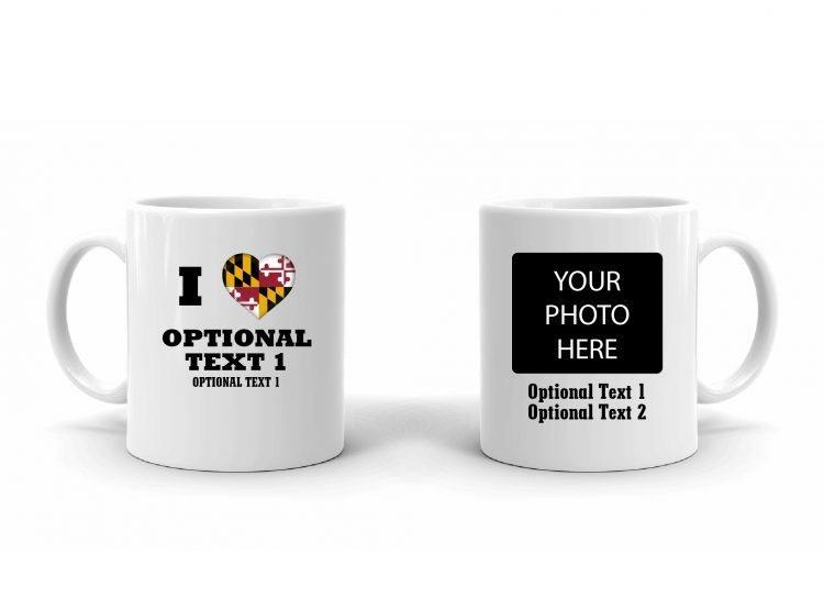 I Love Maryland Flag Mug