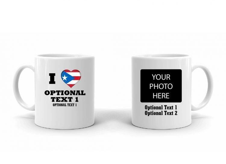 I Love Puerto Rice Flag Mug