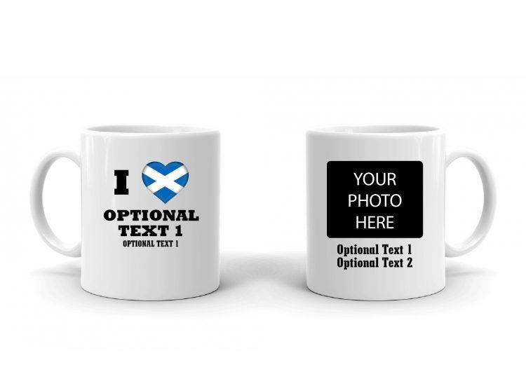 I Love Scotland Flag Mug