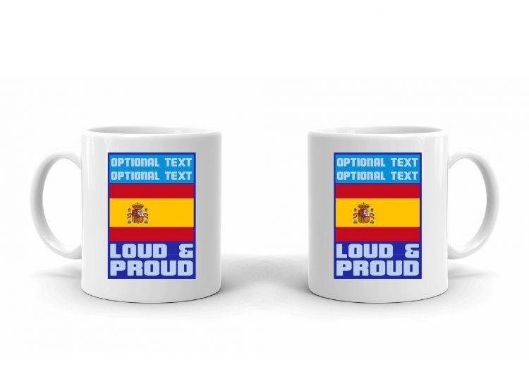 Loud and Proud Spainish Flag Mug
