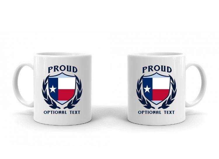 Proud Texan Flag Mug