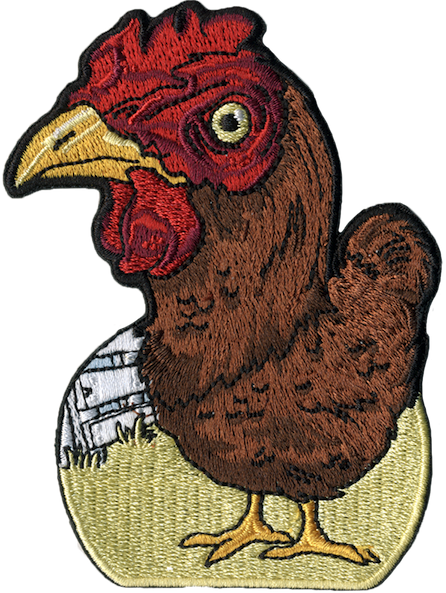 chicken embroidered patch