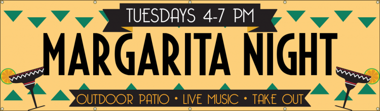 Margarita Night Vinyl Banner with Spanish Margarita Design