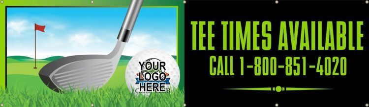 Pro Shop Vinyl Banner with Golf design