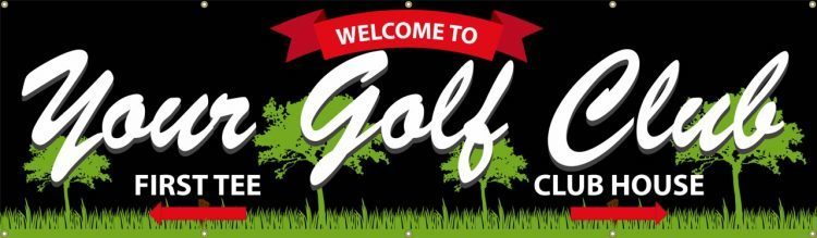 Pro Shop Club House vinyl banner with Club House design